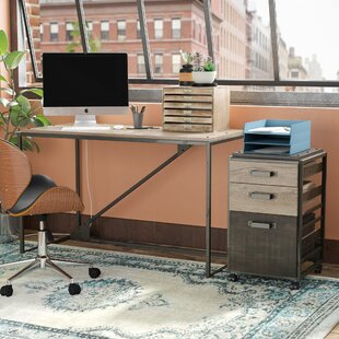 Greyleigh Edgerton Industrial 2 Piece Rectangular Desk Office Suite