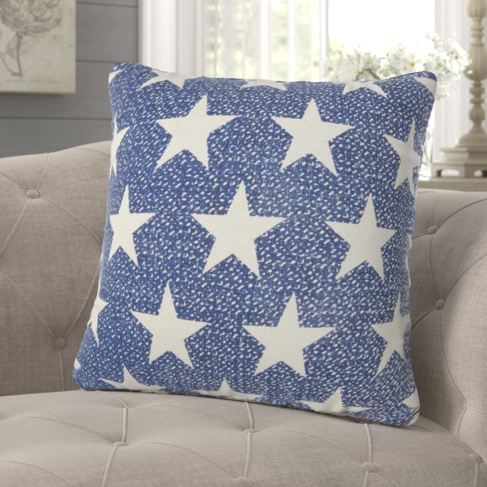 Gracie Oaks Dehoyos Stars Cotton Throw Pillow Reviews Wayfair