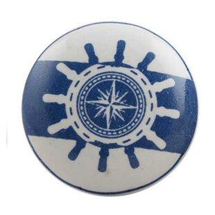 Ship Wheel Flat Ceramic Mushroom Knob