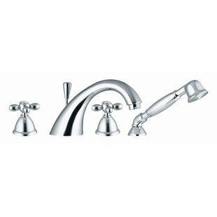 Fima by Nameeks Olivia Double Handle Deck Mount Thermostatic Tub Faucet with Hand Shower