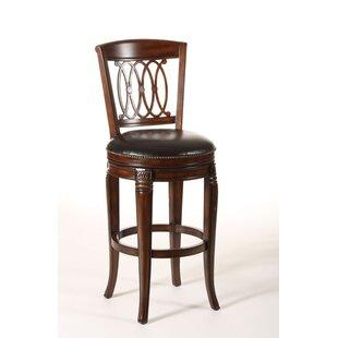 Hillsdale Furniture Montello Wood Swivel Stool in Dark Tobacco
