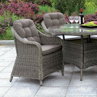 Bunny Patio Dining Chair with Cushion (Set of 2) by August Grove