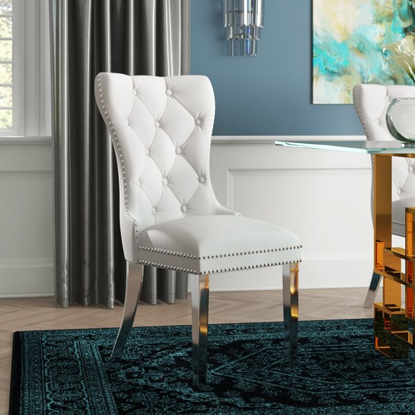 Everly Quinn Bellefonte Upholstered Dining Chair & Reviews ...