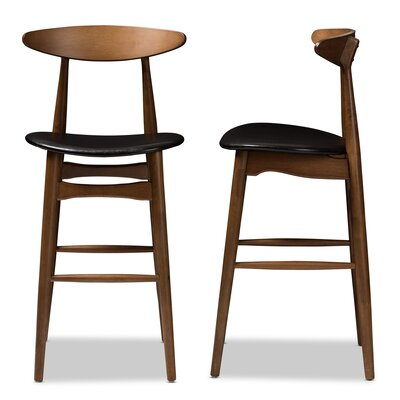 Modern Full Back Wood Bar Counter Stools Allmodern