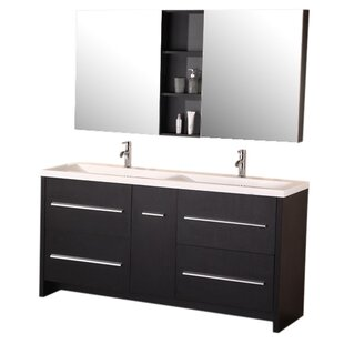 Royal 63 Double Bathroom Vanity Set with Mirror by Home Loft Concepts