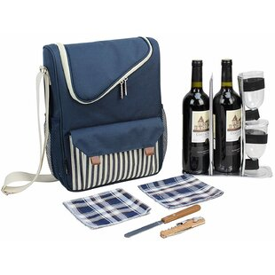 Wine Carrier Picnic Cooler, Service for 2