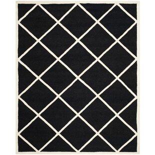 Savings Darla Hand-Tufted Wool Black/White Area Rug ByWinston Porter