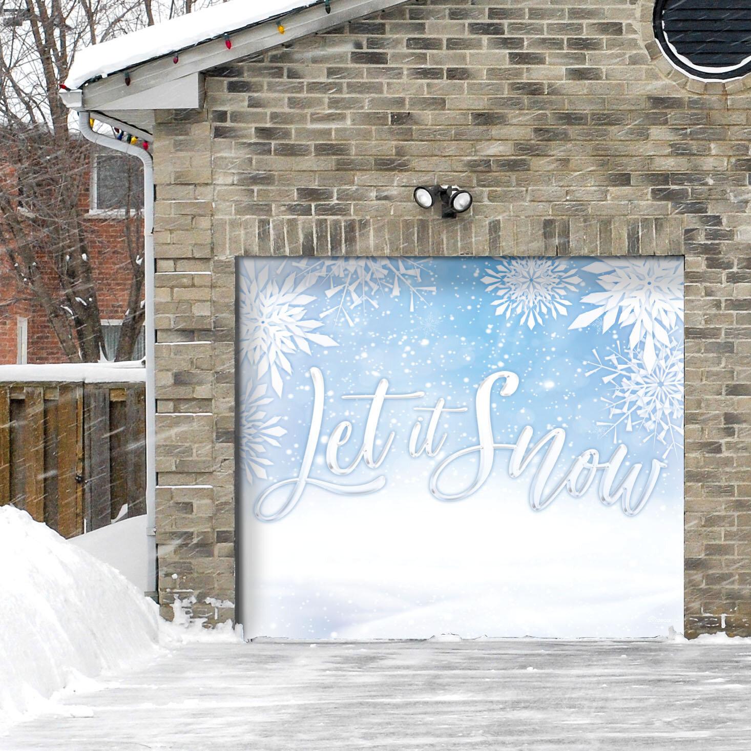 The Holiday Aisle Let It Snow Door Mural Wayfair