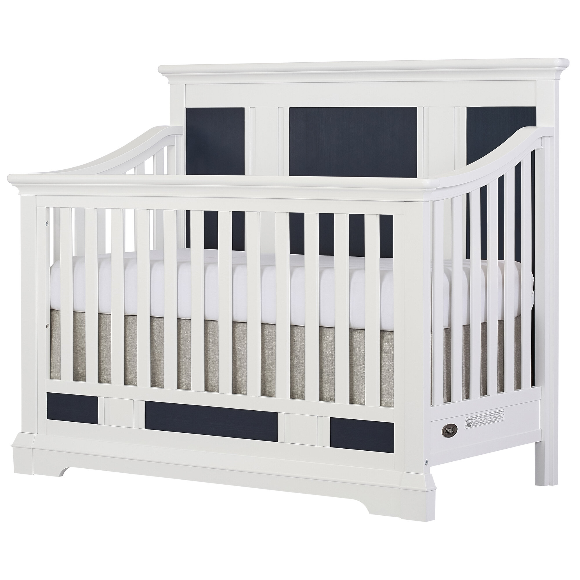 convertible bed turns dp gray graco view crib into larger ca in amazon baby rory pebble