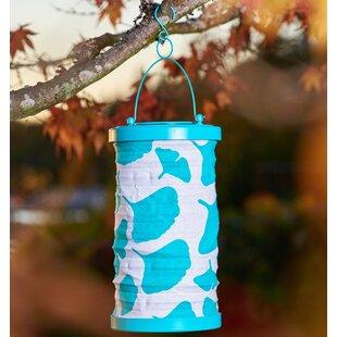 Allsop Home and Garden Soji Ginkgo Canvas 1-Light Hanging Lantern