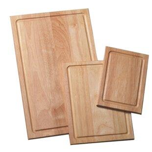 3-Piece Wood Cutting Board Set