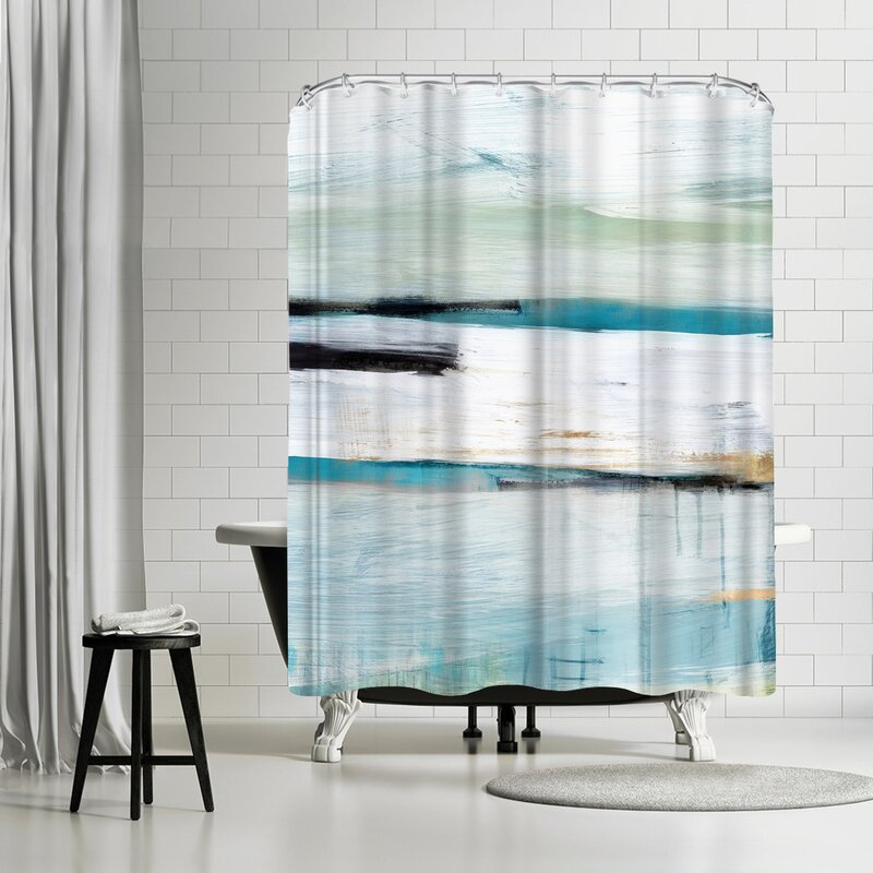 East Urban Home Pi Creative Art Standing Still I Single Shower Curtain Wayfair