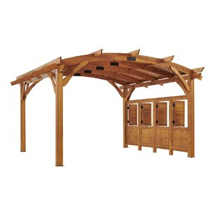 Sonoma Arched Pergola Privacy Wall by The Outdoor GreatRoom Company