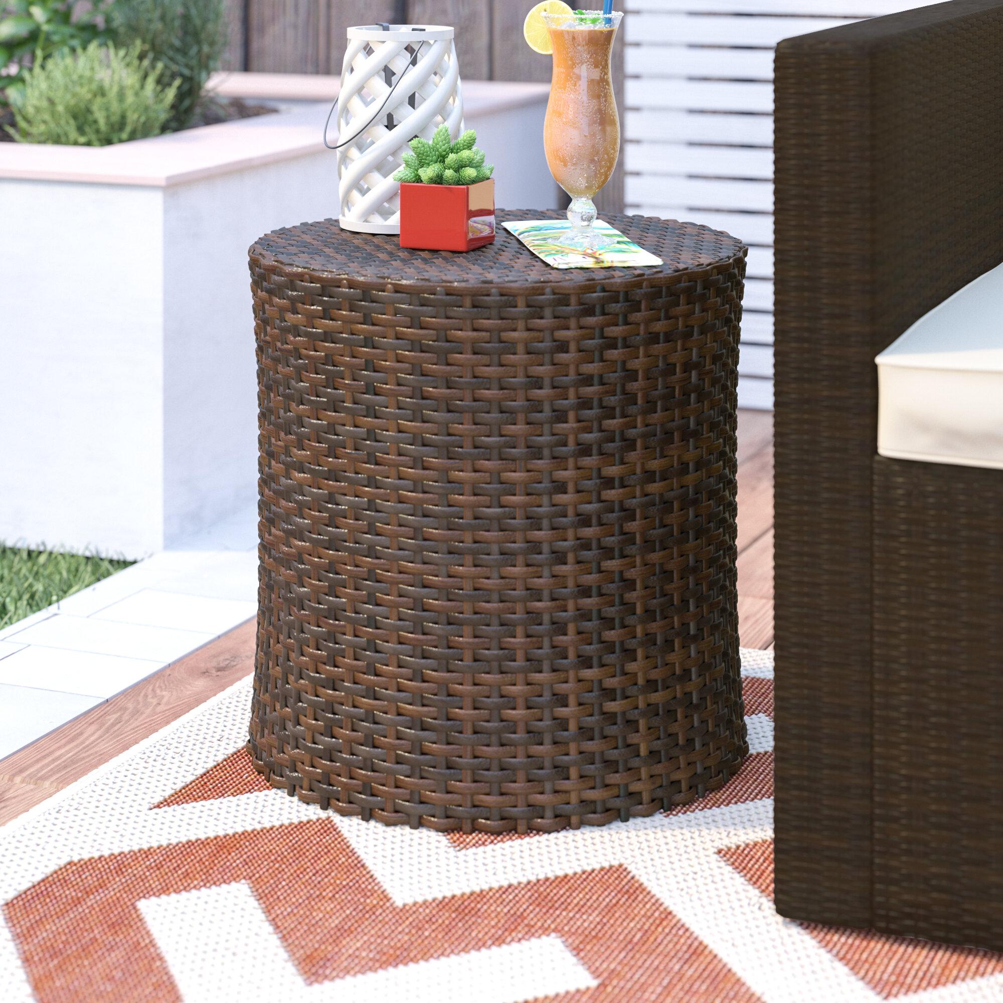 Charmant Mazzella Wicker/Rattan Side Table
