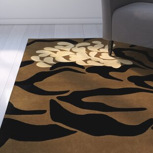 Read Reviews Woodburn Hand-Tufted Brown/Black Area Rug By Latitude Run