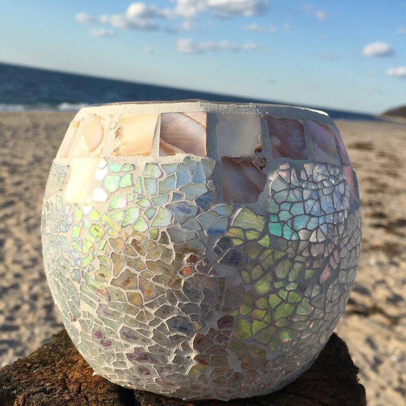 Wholehouseworlds Beach Glass Votive Wayfair