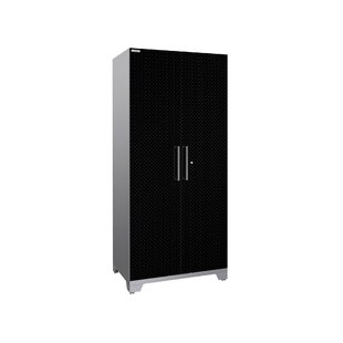 Performance Plus 2.0 Diamond Plate Series 85.25 H x 36 W x 24 D Locker Cabinet by NewAge Products