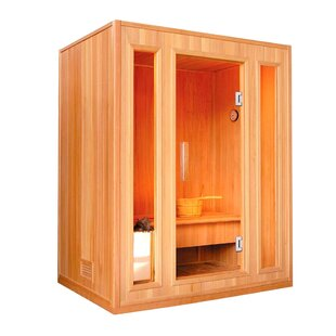 Canadian Cedar Wood 3 Person Steam Sauna By ALEKO