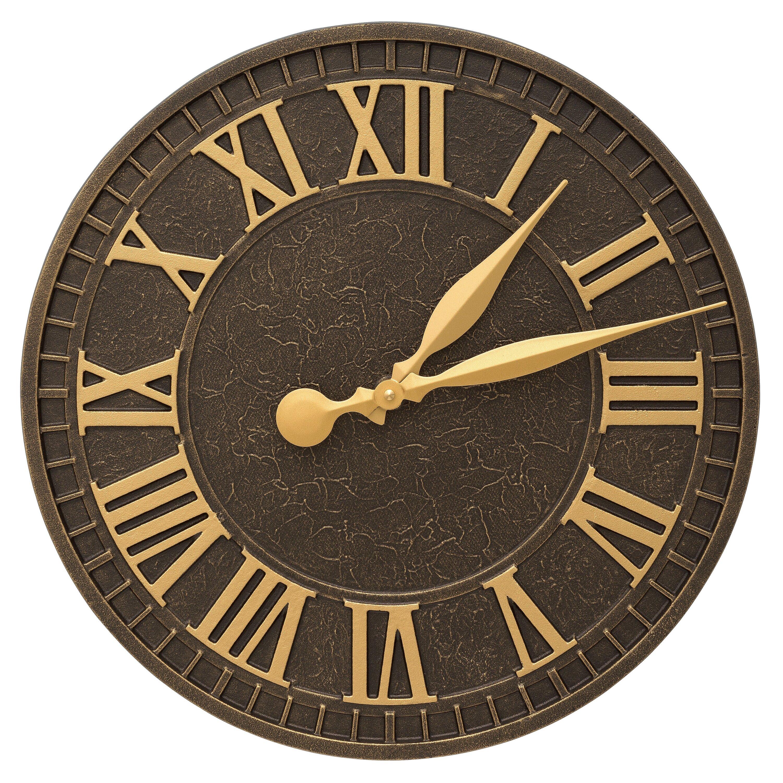Whitehall Products Geneva 16 Indoor Outdoor Wall Clock Reviews Wayfair