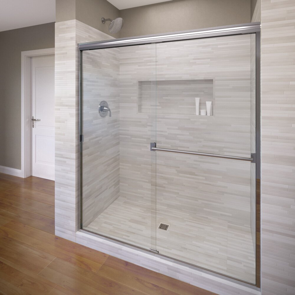 Sliding shower screen - Classic 70 X 60 Frameless Bypass Sliding Shower Door