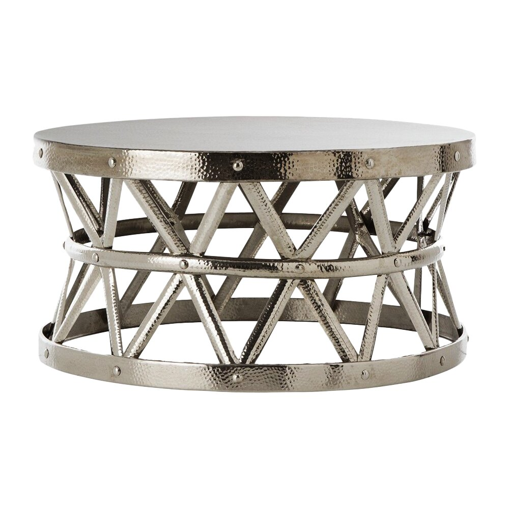 Hammered Coffee Table - Fashion N You Hammered Coffee Table & Reviews Wayfair