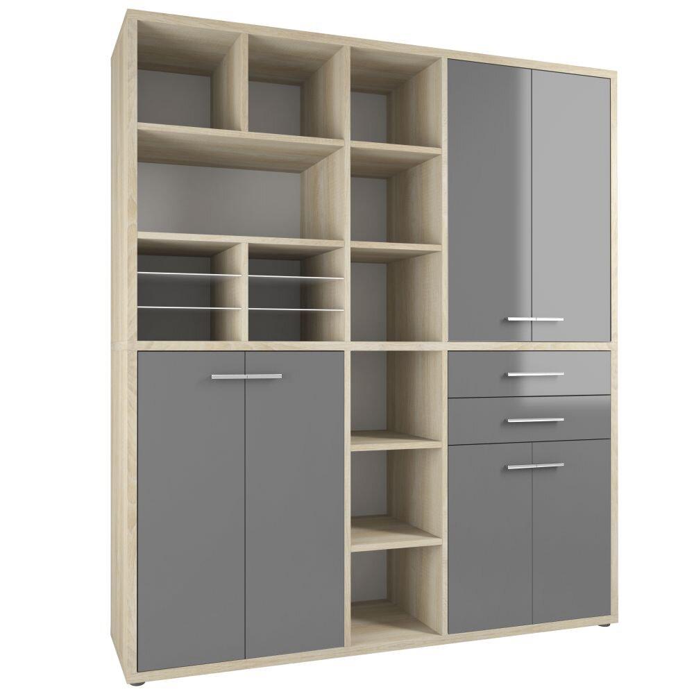 maja m bel 217 cm aufbewahrungsschrank set bewertungen. Black Bedroom Furniture Sets. Home Design Ideas