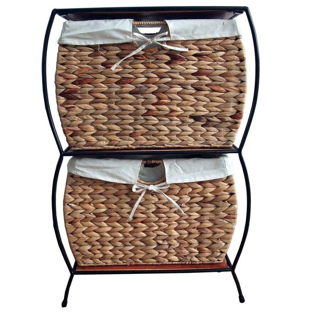 Seagrass Basket Storage Pangaea Rattan 2 Drawer File Cabinet - Pangaea Seagrass Basket Storage Pangaea Rattan 2 Drawer File