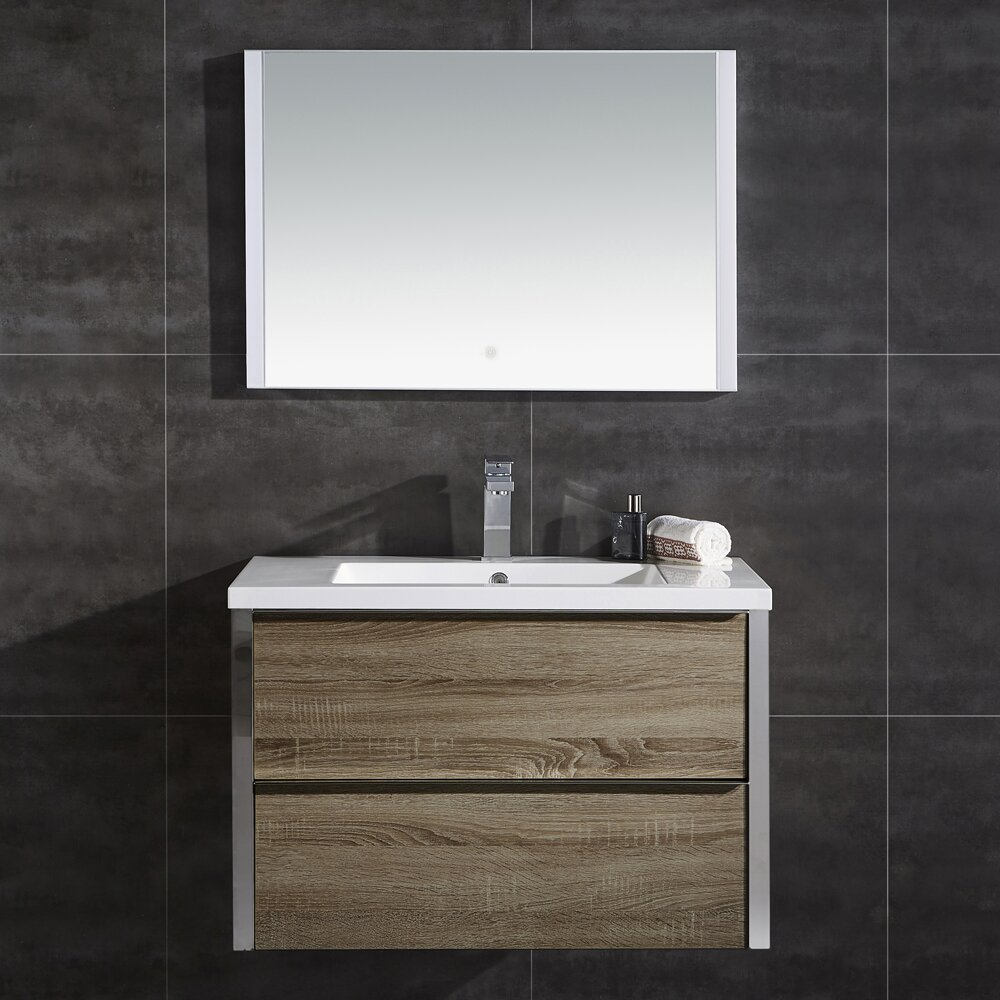 Theo 32 Single Bathroom Vanity With Mirror