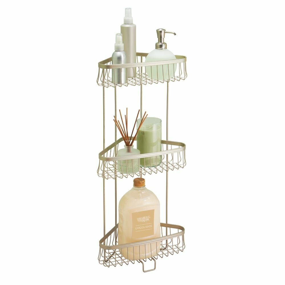york lyra steel free standing shower caddy