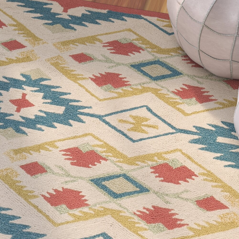 Bungalow rose puri yellow and blue outdoor indoor area for Landscape indoor area rug