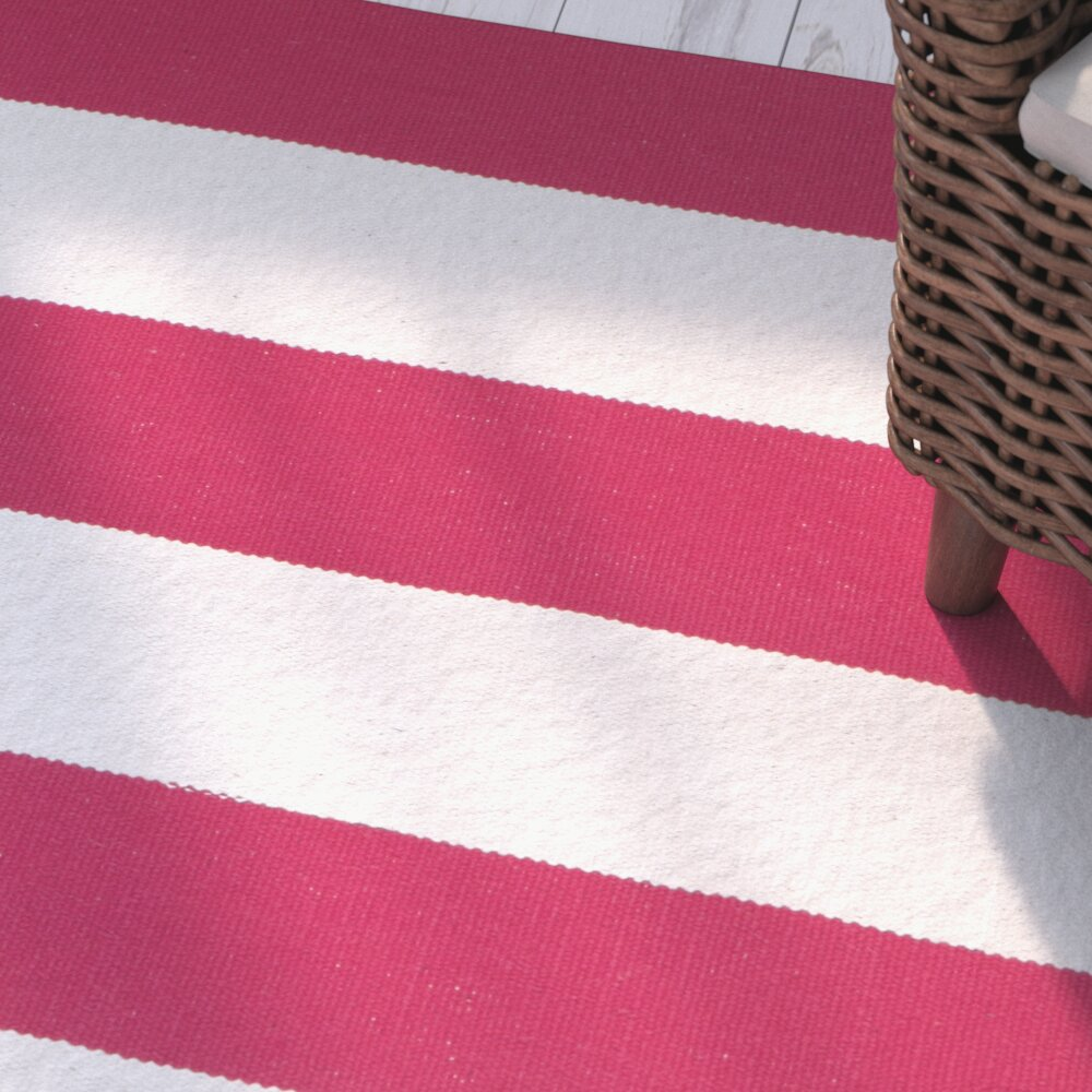 Beechwood red white striped contemporary area rug for Red and white striped area rug
