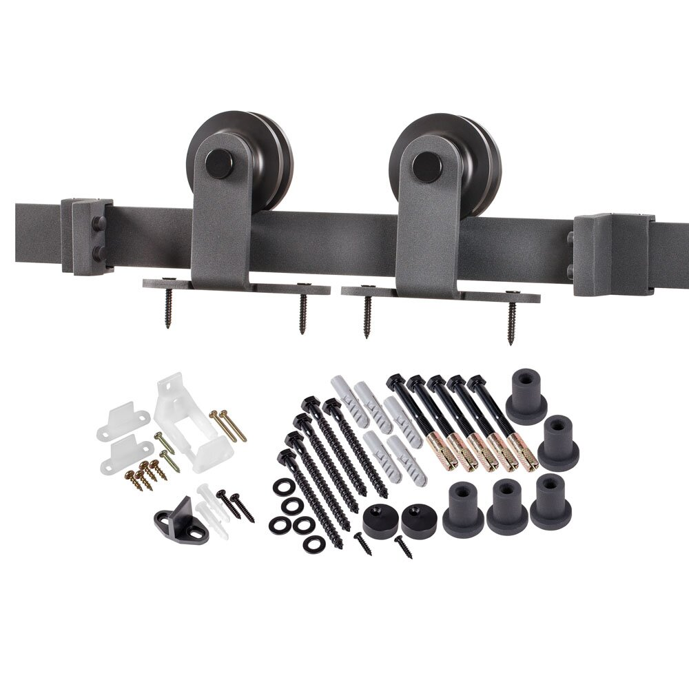 top of door sliding barn door hardware - Erias Home Designs