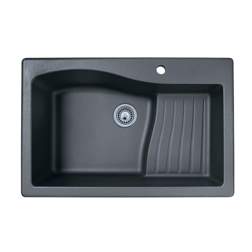 """Swanstone 33"""" X 22"""" Undermount/Drop-In Kitchen Sink"""