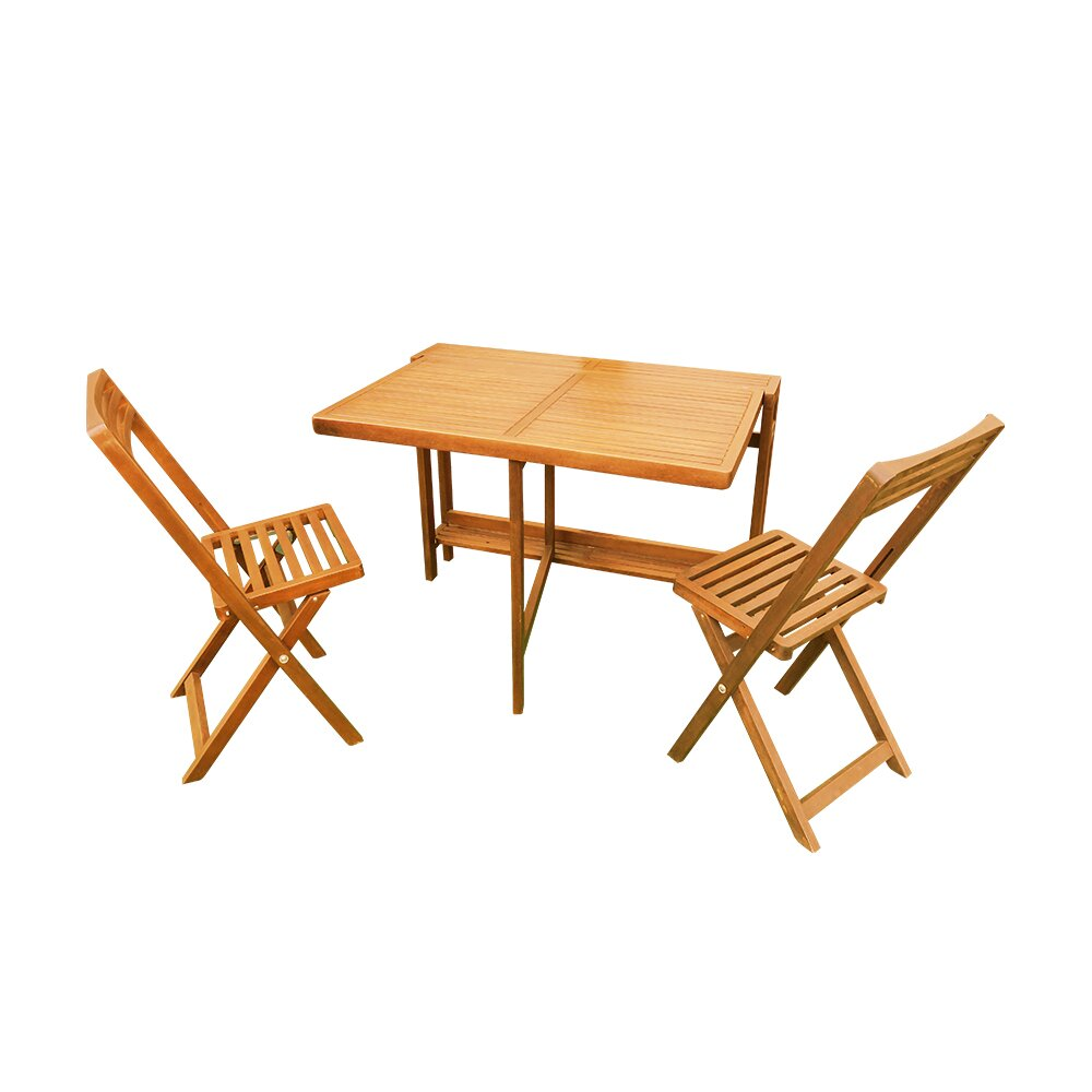 Small space solutions medium 3 piece dining set - Piece dining set small spaces plan ...