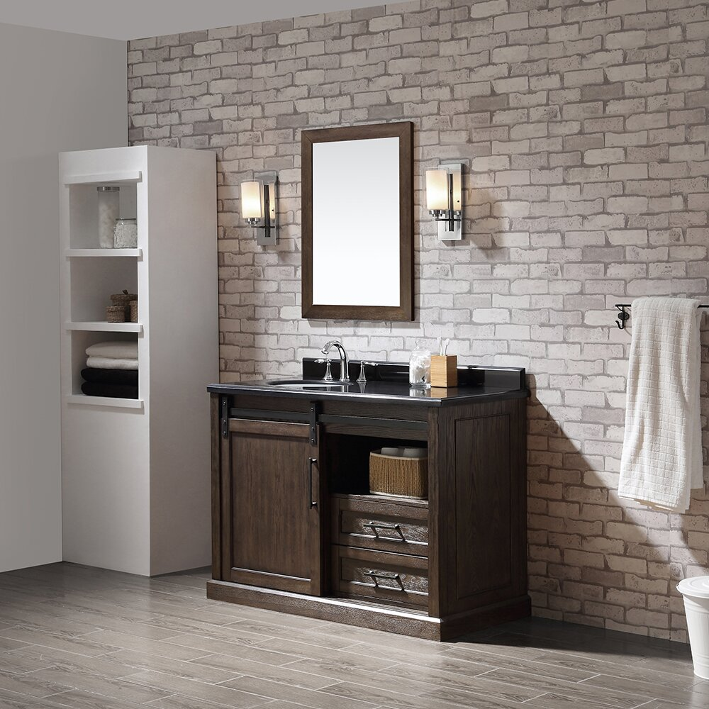 "Rustic Bathroom Vanity Set: Ove Decors Santa Fe 48"" Single Bathroom Vanity Set"