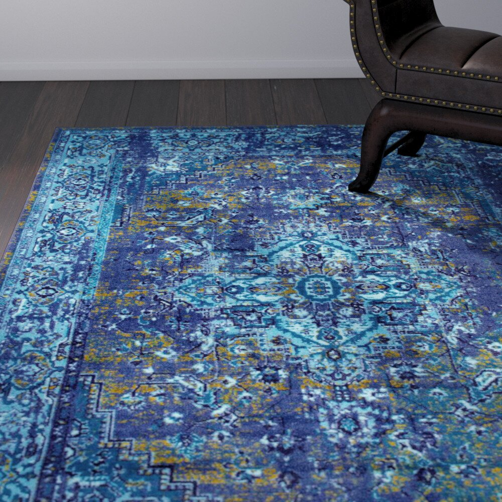 Tyrese Blue Area Rug Amp Reviews Allmodern