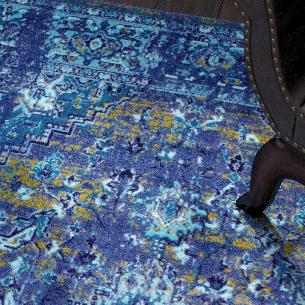 World Menagerie Tyrese Blue Area Rug Amp Reviews Wayfair