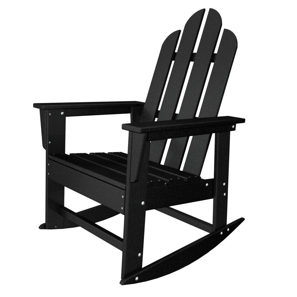 POLYWOOD Long Island Adirondack Rocking Chair  Reviews Wayfair - Outdoor furniture long island