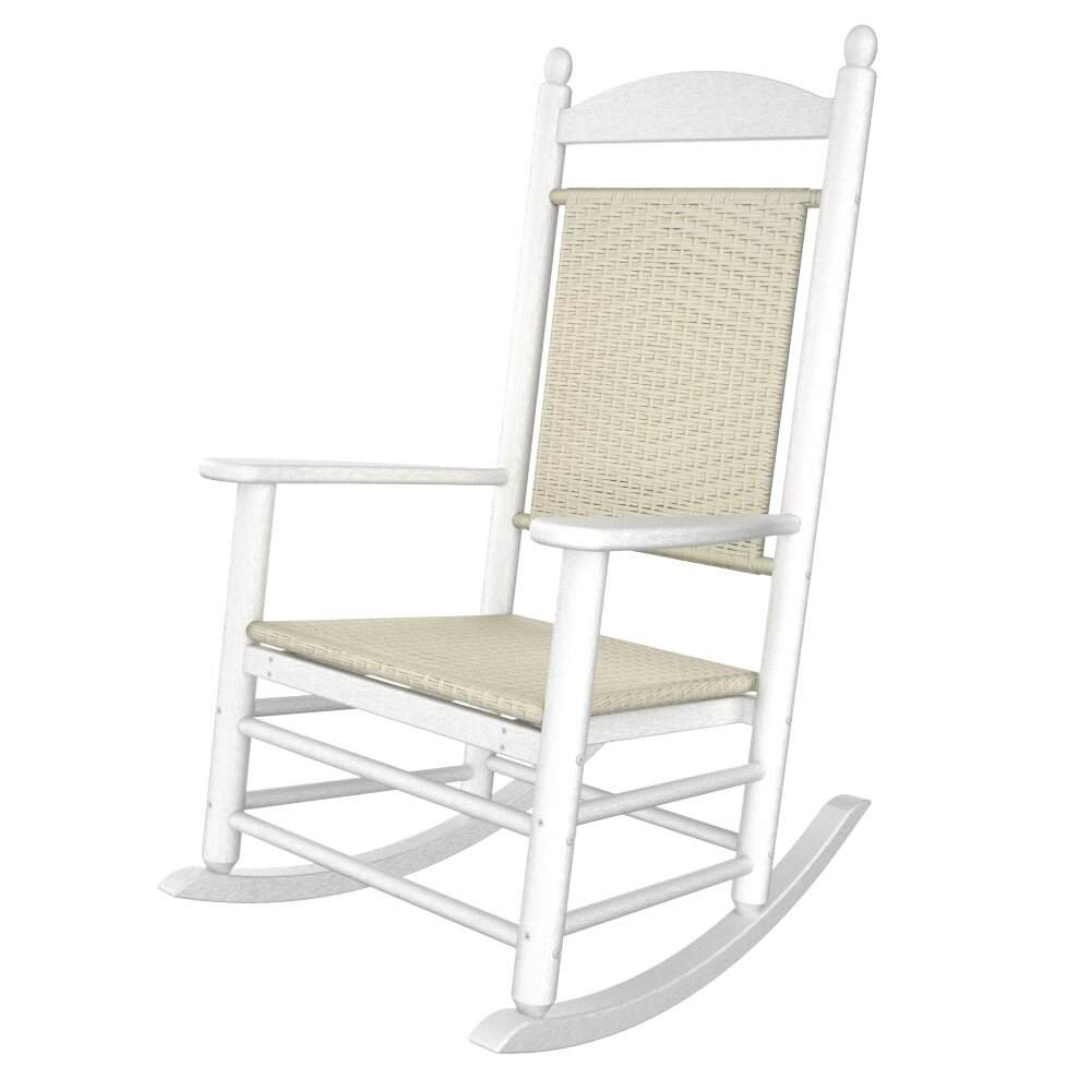 Polywood Rhodes Polywood Rocking Chair In White Reviews Wayfair