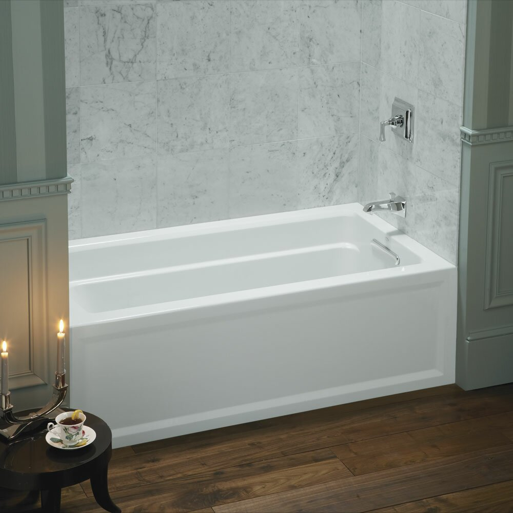 kohler archer 60 x 32 soaking bathtub reviews wayfair