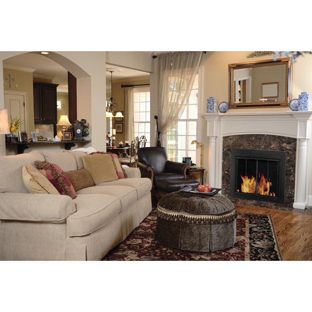 Bi Fold Glass Fireplace Doors