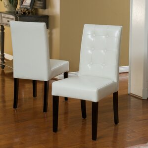 pine island parsons chairs in ivory set of 2