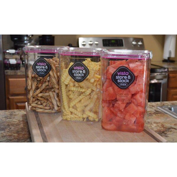 Rebrilliant Fuentes 4 31 Qt Food Storage Container Wayfair