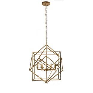 Willis 6-Light Geometric Chandelier by Mercer41