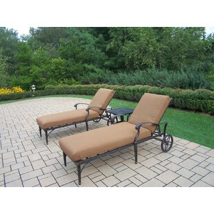 Vandyne 3 Piece Sunbrella Conversation Set with Cushions