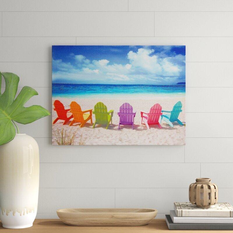 07ece3ecdb 'Peekskill Beach Chairs' Photographic Print on Wrapped Canvas