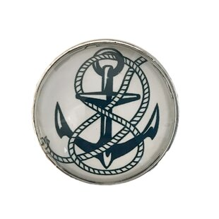 Boat Anchor Nautical Round Knob by Shabby Restore