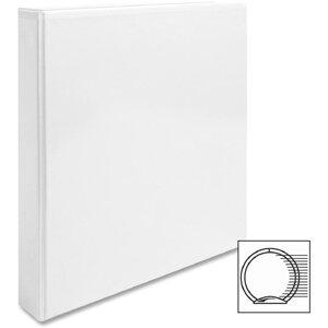 "View Binder, w/ 2 Inside Pockets, 1"" Capacity, White"