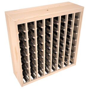 Karnes Pine Deluxe 64 Bottle Floor Wine Rack by Red Barrel Studio