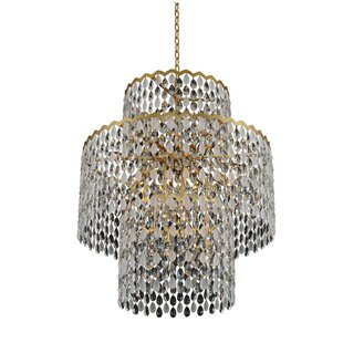 Caudill Casual Luxury 21-Light Crystal Chandelier by Rosdorf Park